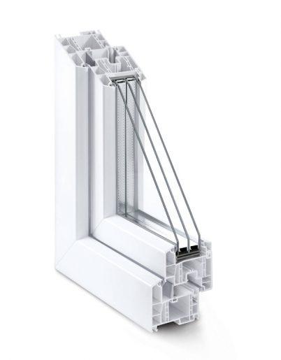 tamplarie PVC geam cu 6 camere termopan - Окна Grazio